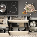Organised kitchen by Serene Spaces for You