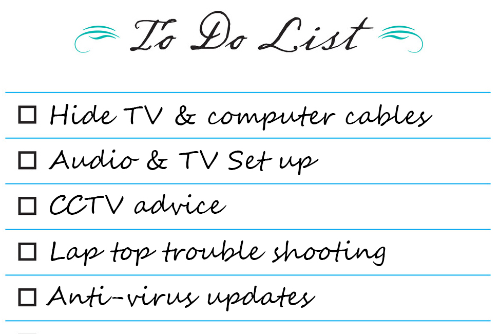 IT jobs to-do list