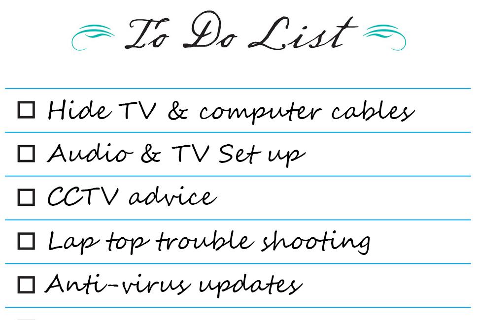 IT jobs to-do list